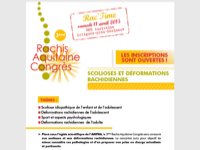 3ème Rachis Aquitaine Congrès : INSCRIVEZ-VOUS SANS TARDER !