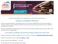 Candidatez au Prix UNICANCER de l'INNOVATION