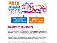 Prix accès aux soins oncologiques de support - soumettez un projet !