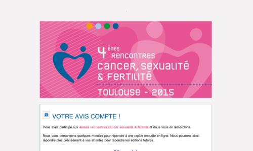 4èmes rencontres Cancer Sexualité Fertilité - Votre avis nous intéresse