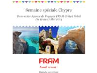 La semaine spéciale Chypre dans votre Agence de Voyages FRAM de Créteil Soleil