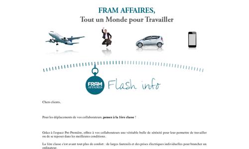 Flash Spécial SNCF - Pour vos collaborateurs, pensez à la 1ère classe !