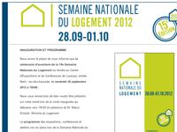 Semaine Nationale du Logement - Inauguration