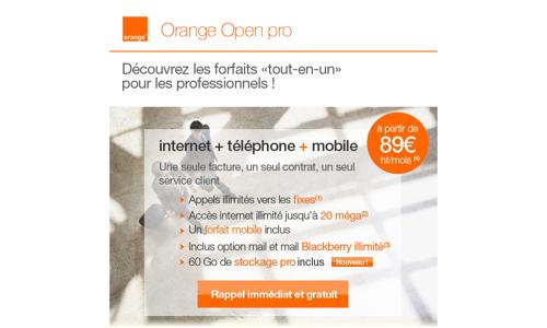 Nouveau forfait internet +  téléphone + mobile