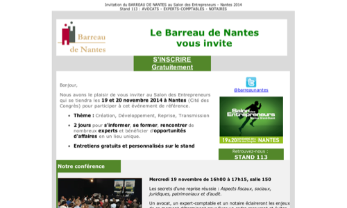 Invitation Salon des Entrepreneurs 2014